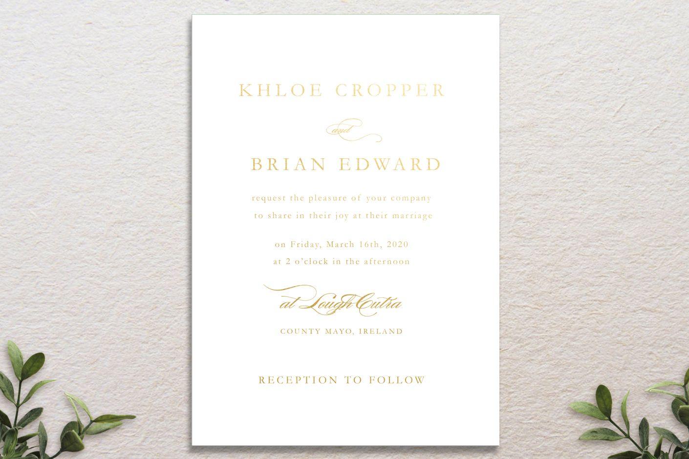 formal flourish wedding invitation, signature range design | Vintage ...
