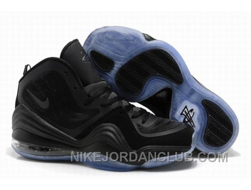 Cheap Nike Air Penny 5 Penny Hardaway Shoes Black For Sale