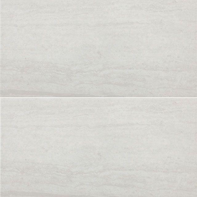 "Atrium Kios Gris Glazed Porcelain Floor Tile: Bianco 12"" X 24"" Glazed Porcelain Tile"
