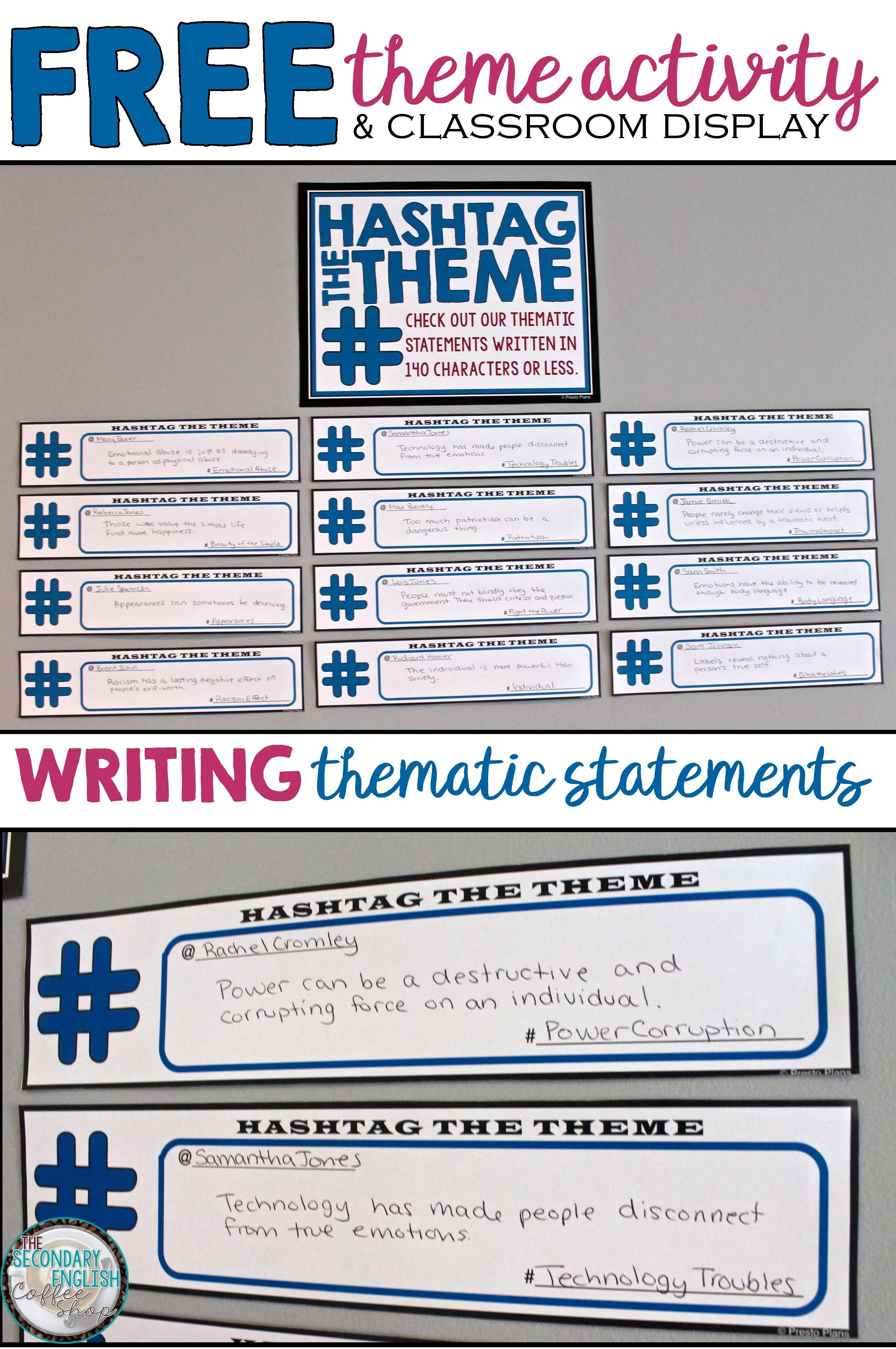 Understanding and identifying theme is a higher order skill that understanding and identifying theme is a higher order skill that often leaves many students scratching robcynllc Choice Image