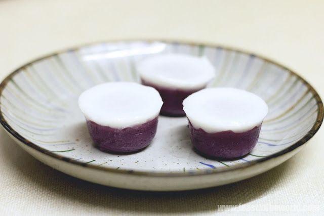 Nyonya Purple Sweet Potato Kueh Talam