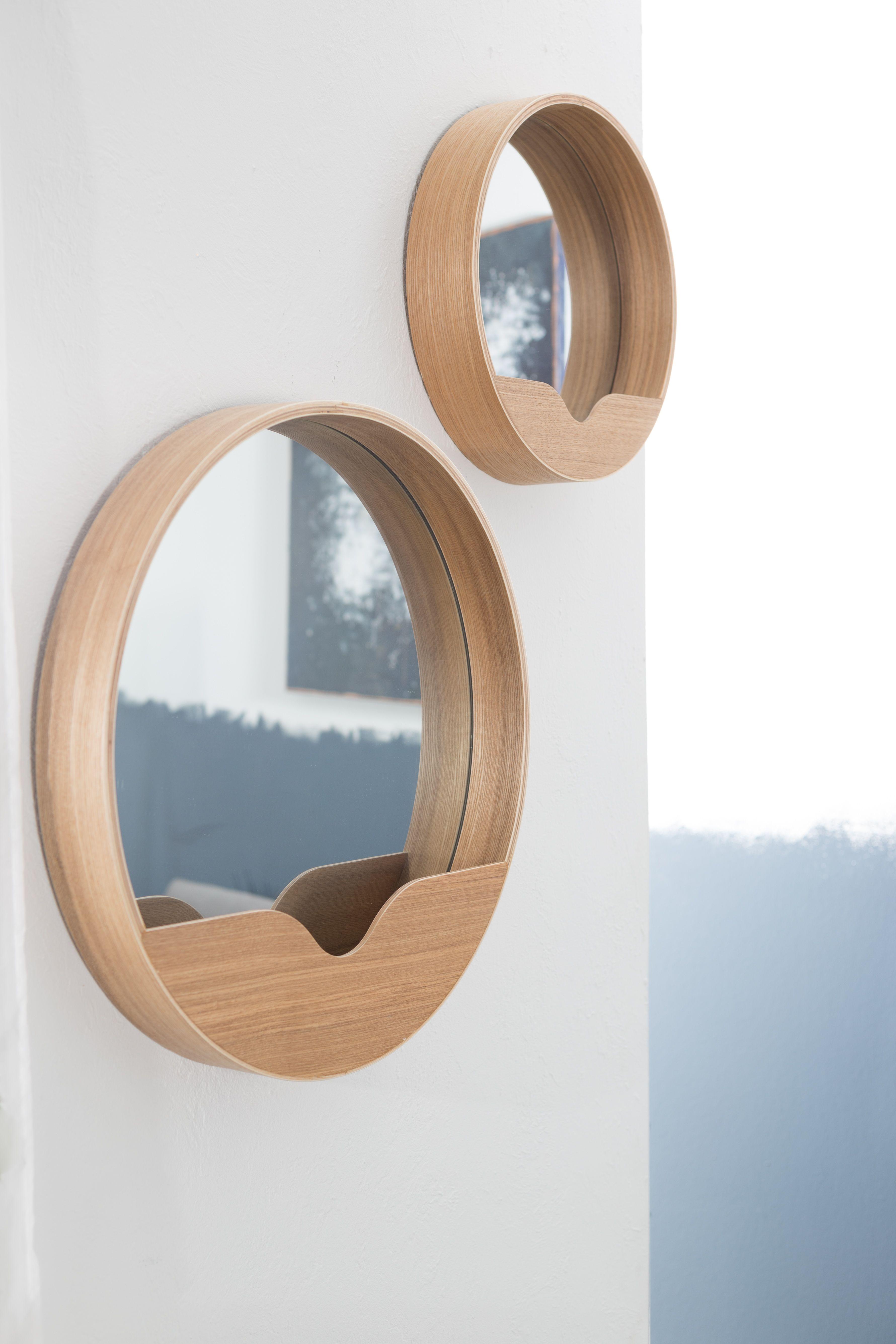 Round Wall Mirror Spiegelwanden Spiegel Houtfineer