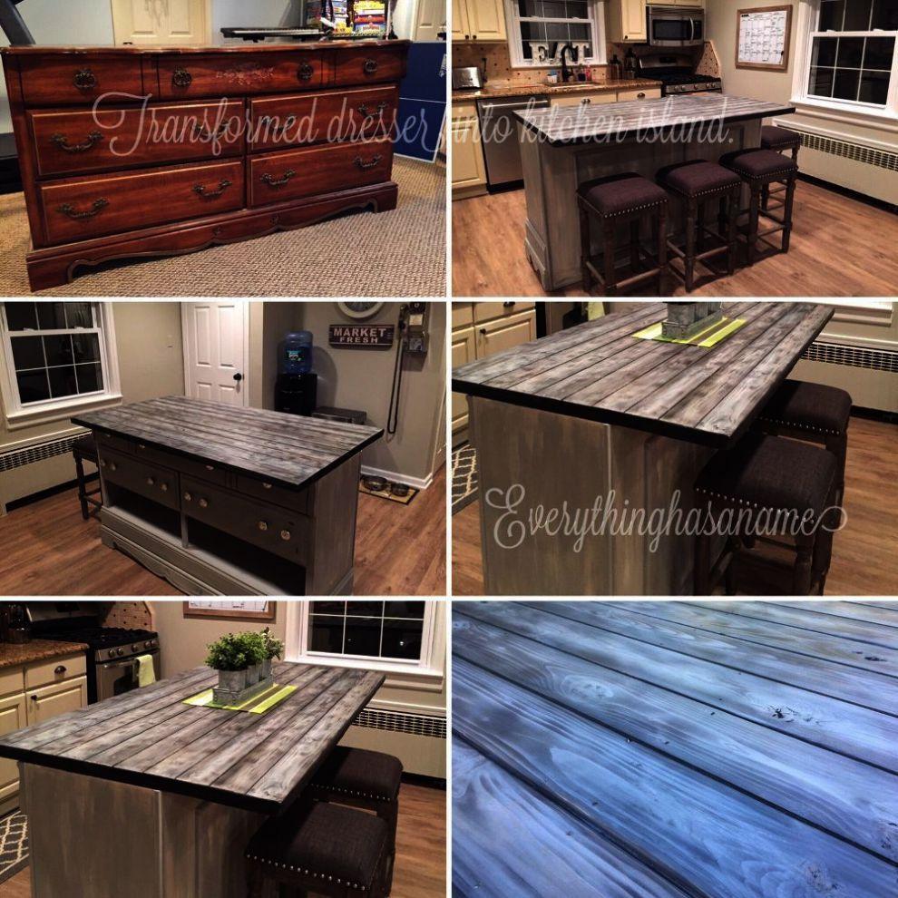 Granite Top Kitchen Cart Natural Base The Furniture Blogger Diy Kitchen Island Dresser Kitchen Island Kitchen Island Makeover