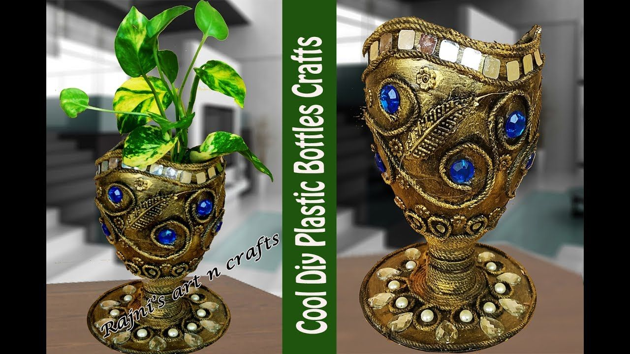 DIY Crafts Grow Money Plant In Plastic Bottle Best Out Of Waste Creativ