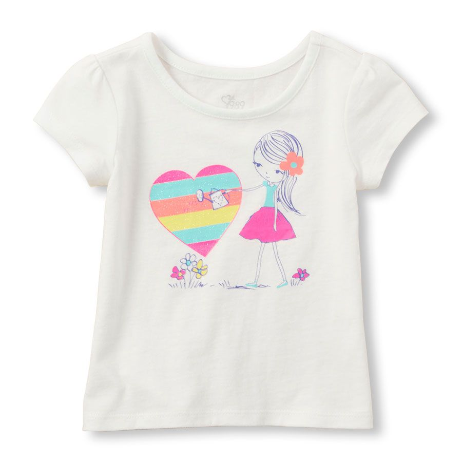 8754655e84351 Toddler Girls Graphic Top