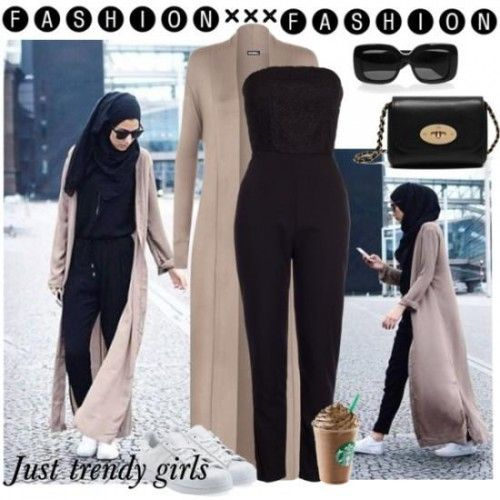 aac9e4794e43 Pin by Just trendy girls on Hijabi outfits