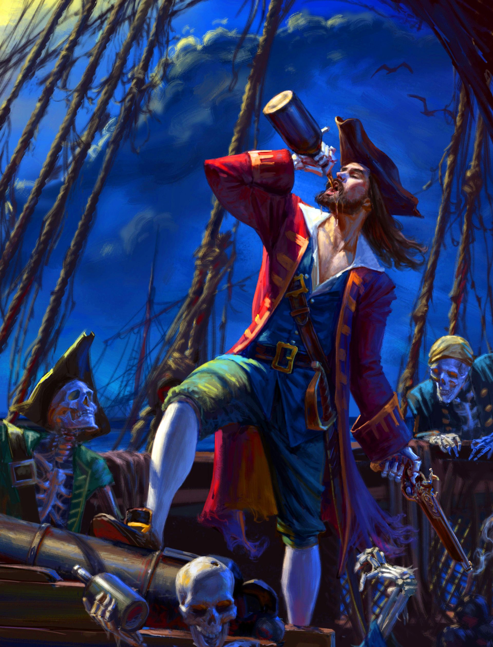 Pirate Becka Bones | Pirate art, Pirate woman, Fantasy