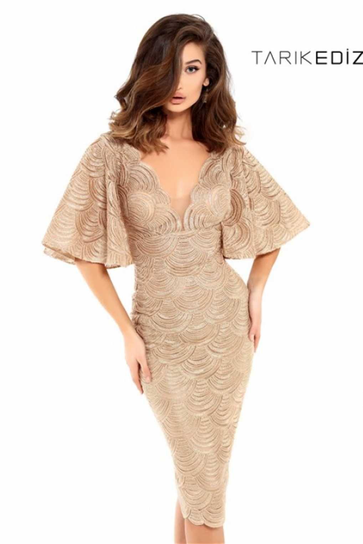 749c2928bec Коктейльное платье Tarik Ediz 93725 с широким рукавом. Просматривайте этот  и другие пины на доске Cocktail Dresses - Коктейльные платья ...
