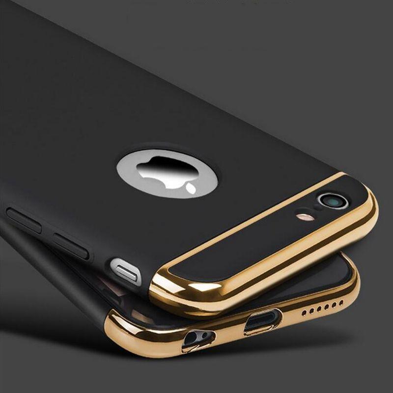 Nuevo para el iphone 6 s 6 más caso armadura delgada de oro negro ...