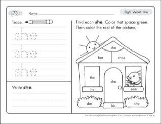 Sight Word She Sight Words Learning Mat Printables Kindergarten Worksheets Sight Words Sight Words Preschool Sight Words Kindergarten sight words worksheets pdf