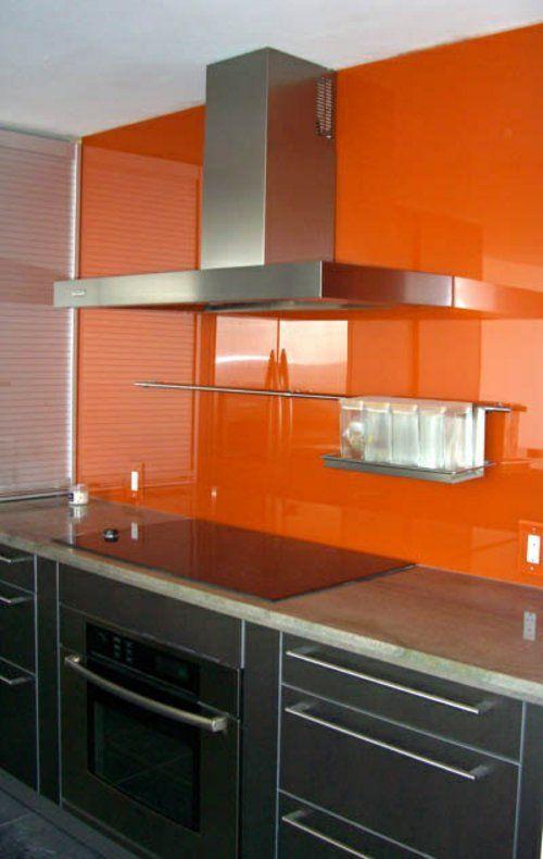 30 tolle Wohnideen für Küche Glasrückwand Glass kitchen
