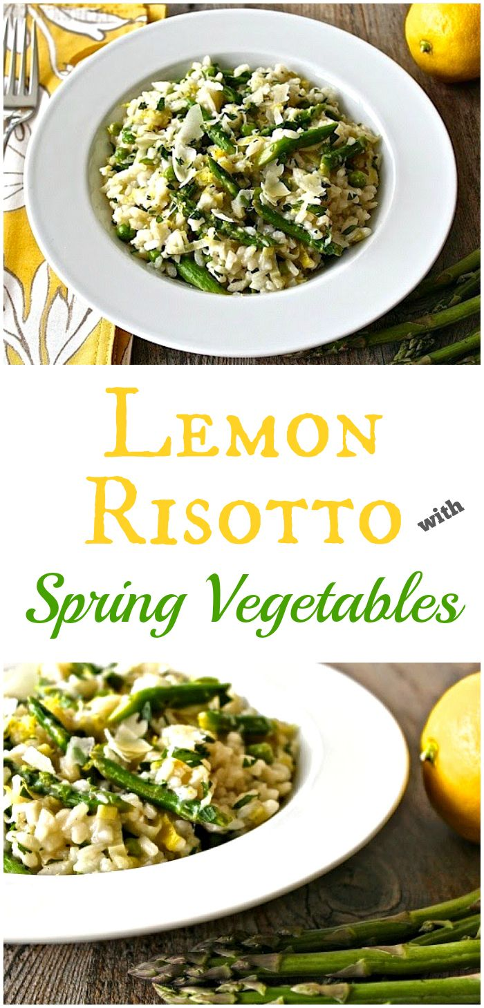 Lemon Risotto with Spring Vegetables   @foodiephysician