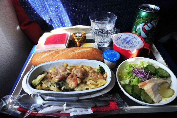 Air France economy class meal.