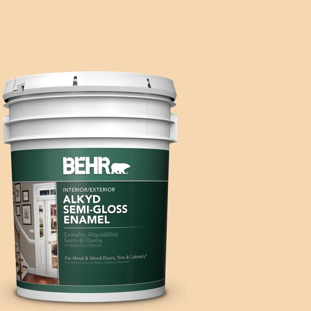 BEHR 5 gal  #330C-3 Clam Chowder Urethane Alkyd Semi-Gloss