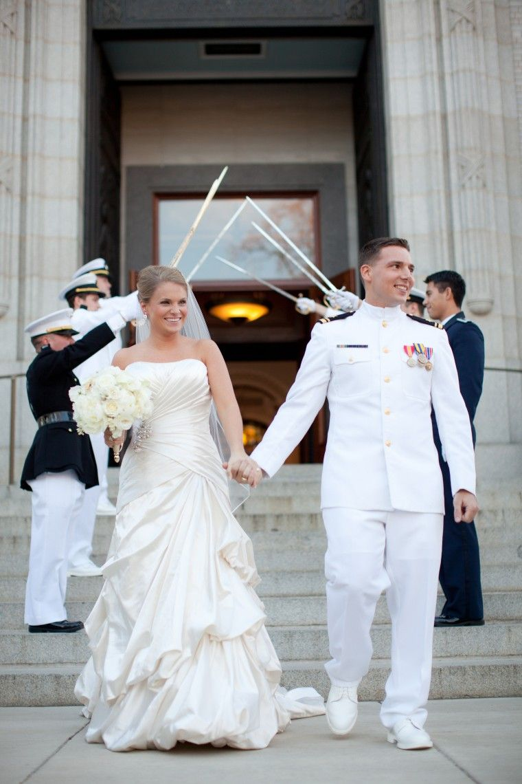 Navy uniform wedding images galleries for Free wedding dresses for military brides