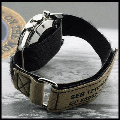 Details About 20mm Original Nasa Reproduction Velcro Strap For