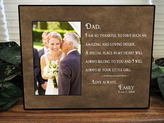 Father of the Bride Gift, Bridal Wedding Frame, Dad Wedding Gift ...