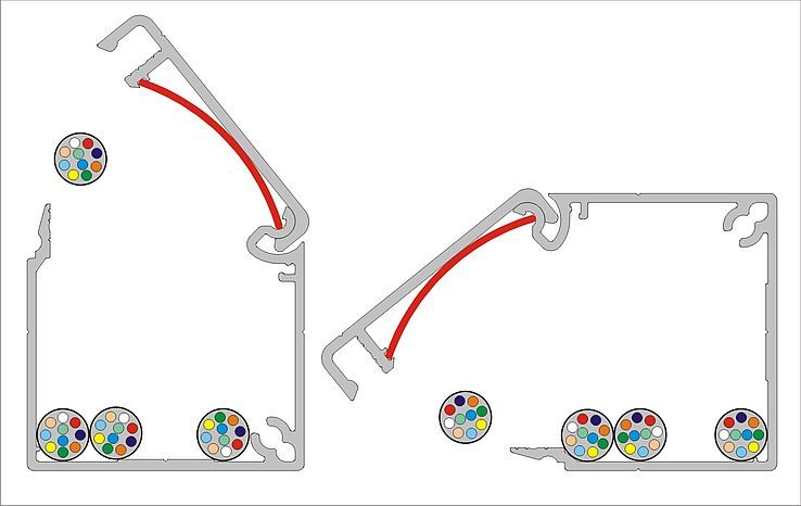 Einlegbare Federstreifen Halten Den Deckel In Position Kabelkanal Alu Kabel Technik