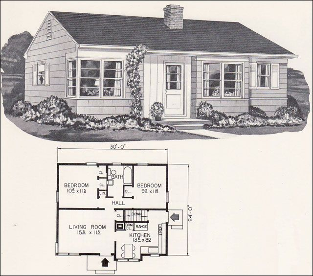 1961 Weyerhauser Book of 22 Family Planned 4 and 5 Room Homes ...