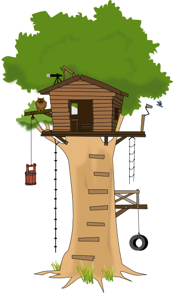 tree house clipart tree house clip art vector clip art online rh pinterest com Cartoon Tree House Tree House Sketch