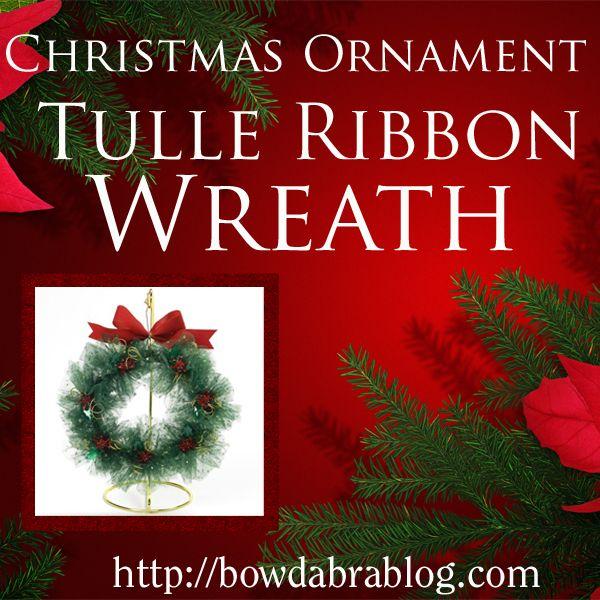 Photo of Handgemachte Weihnachtsverzierungen: Tüllbandkranz | Weihnachtsdekor Basteln