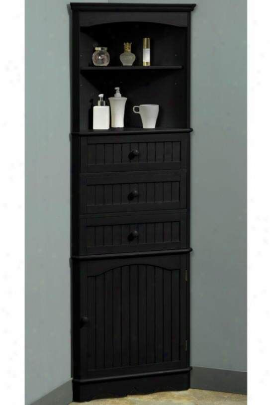 Corner Bathroom Cabinet Freestanding Unit Corner Shelves Cabinet Tall Cabinet Storage