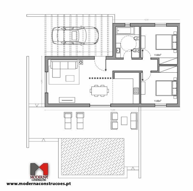 As casas construídas em blocos de betão ou tijolos cerâmicos - Casas modernas e com um melhor comportamento térmico, energético e acústico