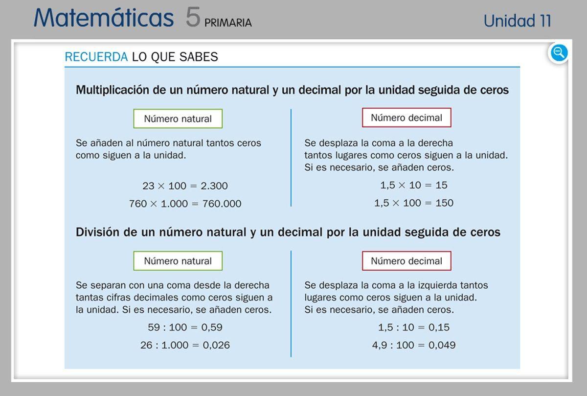 Multiplicación Y División Por La Unidad Seguida De Ceros Unidad Seguida De Ceros Hojas De Trabajo De Matemáticas Matematicas