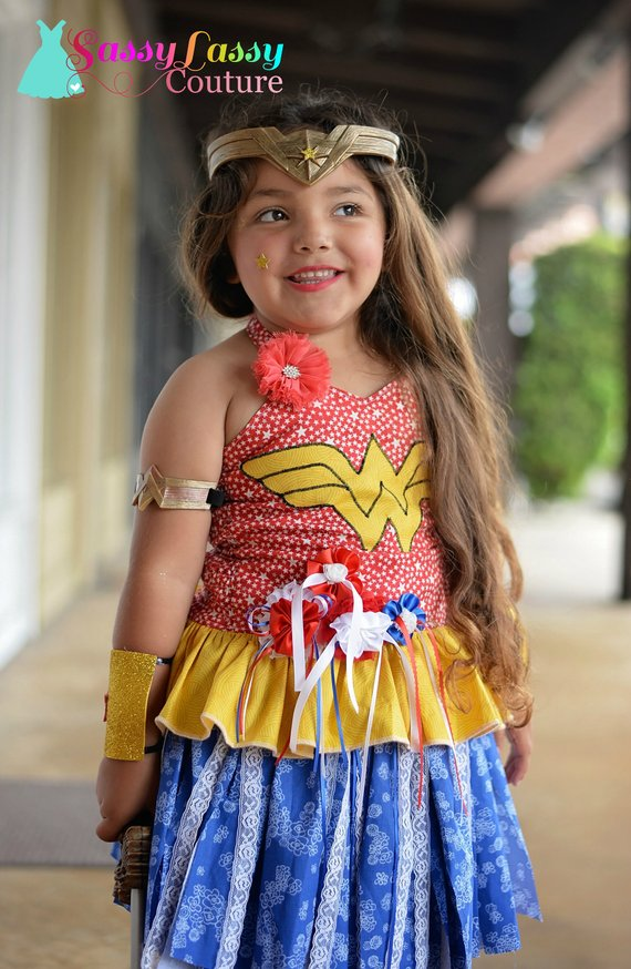 11b86bfa75c Girls Wonder Woman Costume, Wonder Woman Inspired Costume, Wonder ...