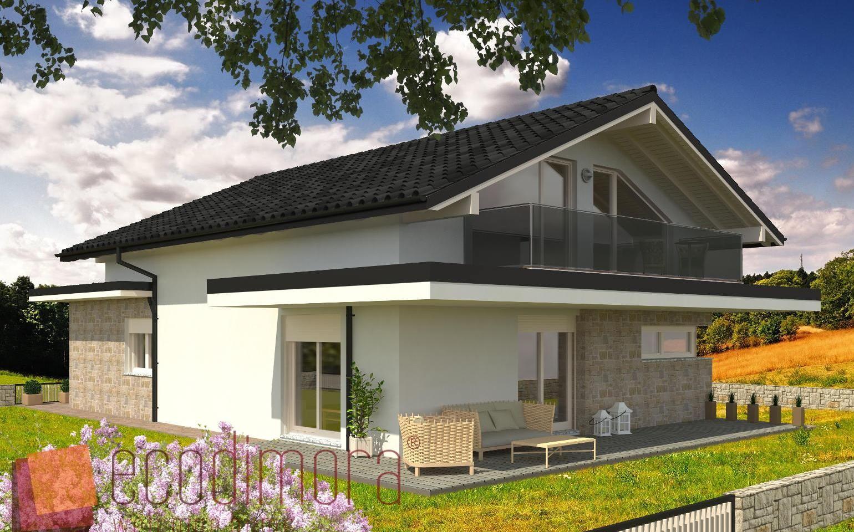 Casa prefabbricata in legno living 193 case for Ville con portico in legno