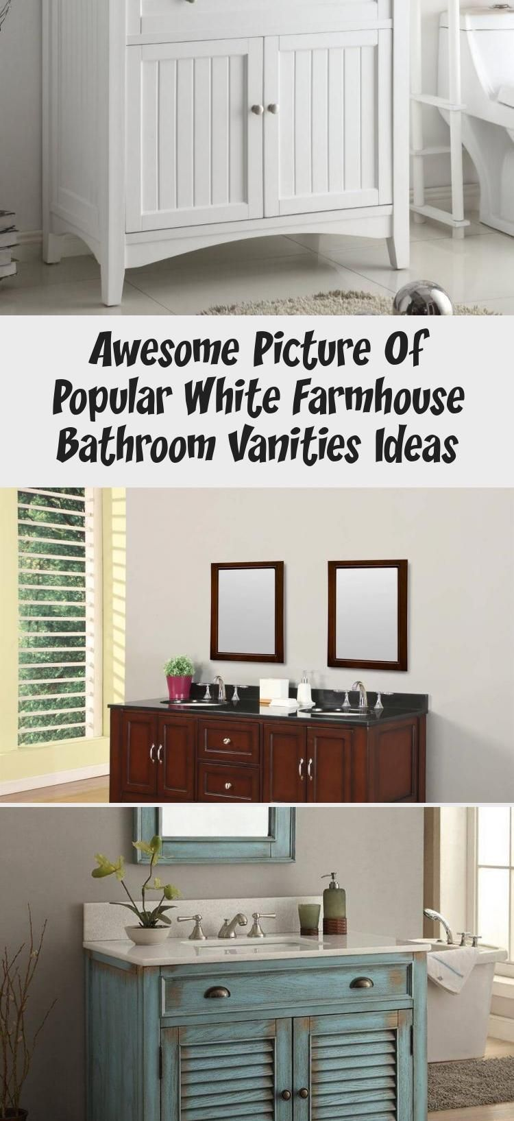 Apron Sink Bathroom Vanity in 2020 (With images