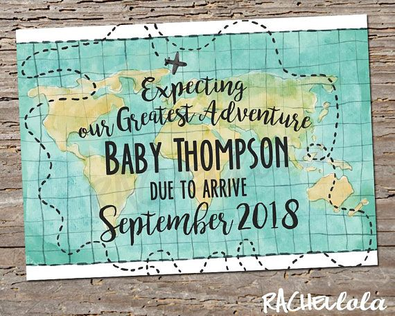 Expecting Our Greatest Adventure Pregnancy Announcement Baby