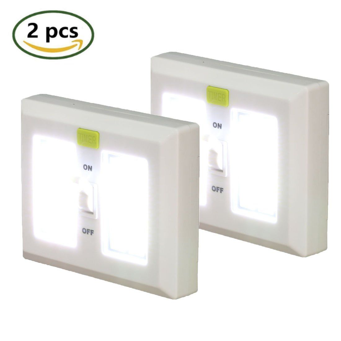 Super Bright Led Light Switch With 1 Minute Timer Universal Led Night Lights Cordless For Closets Cabinet G Led Light Switch Bright Led Lights Led Night Light