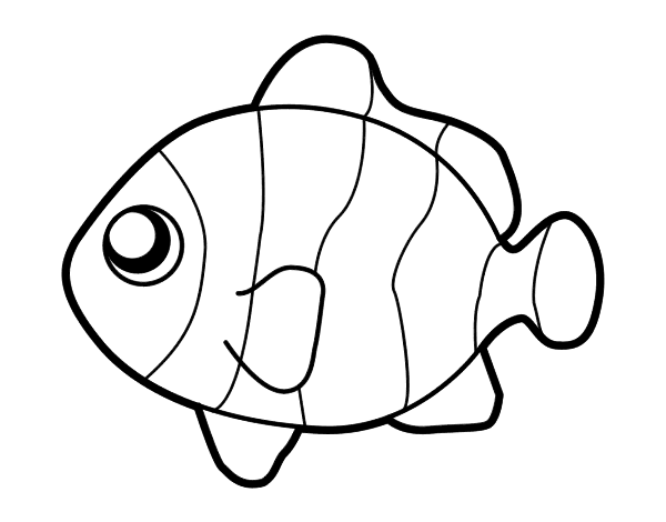 Dibujo De Pez Payaso Para Colorear Art Fish Coloring Page Fish