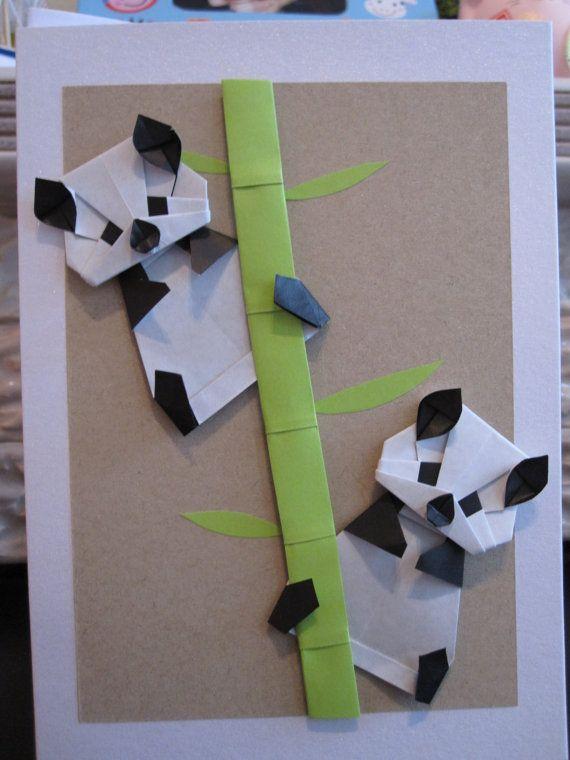 origami pandas origami pinterest bastelideen basteln kinder und die schule. Black Bedroom Furniture Sets. Home Design Ideas