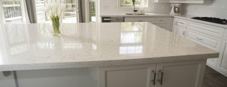 White Kitchen With Cambria Torquay Countertops