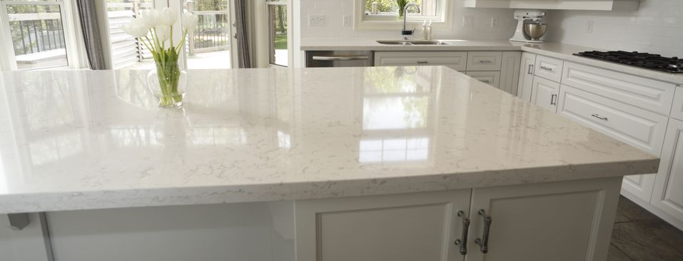 Download Wallpaper White Kitchen With Cambria Torquay Countertops