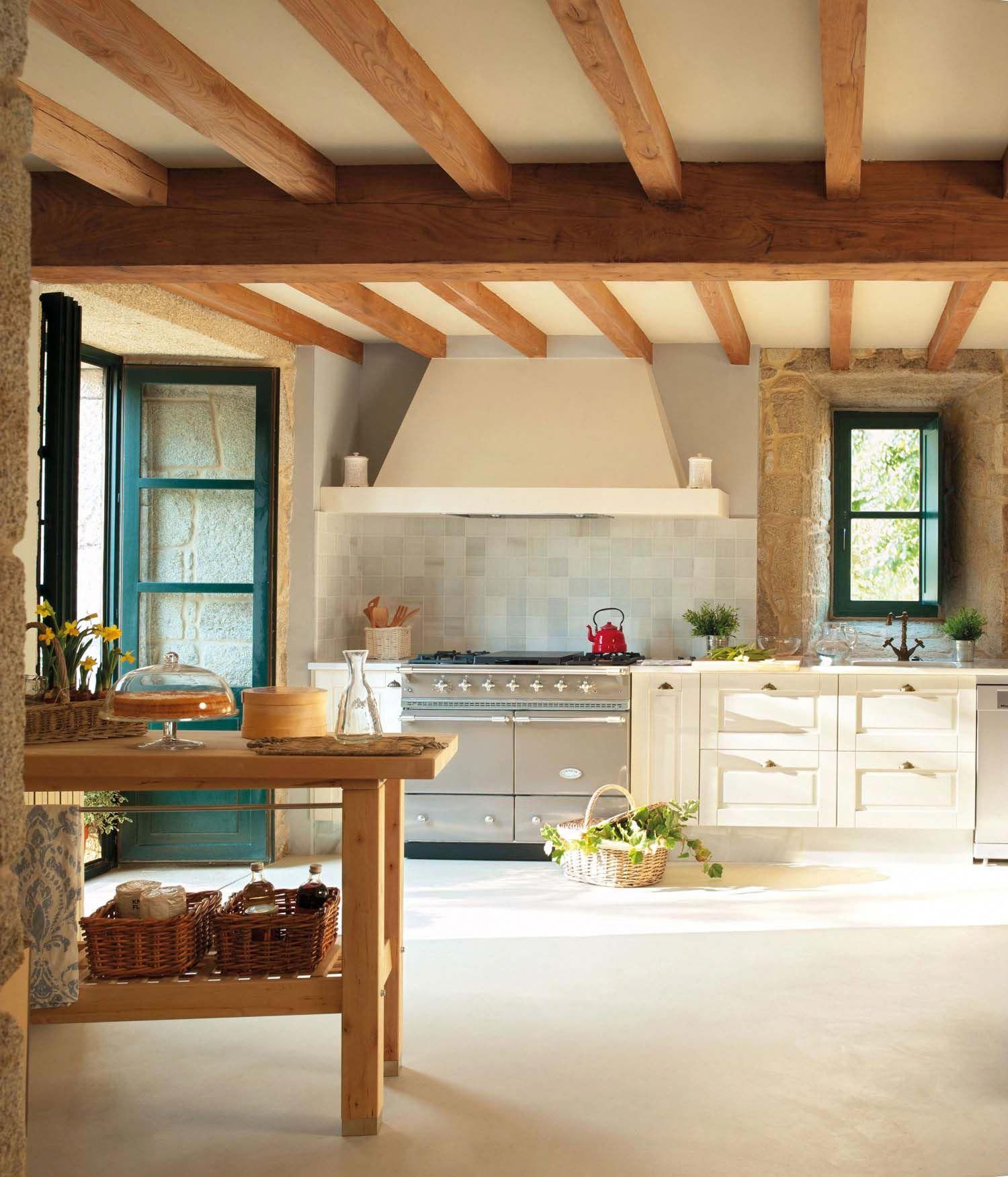 25 Captivating Ideas For Kitchens With Skylights: Captivating Rustic Home In The Spanish Countryside With