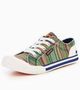 Rocket Dog jazzin Bubble Stripe plimsoll, Multi, Size 5, Women