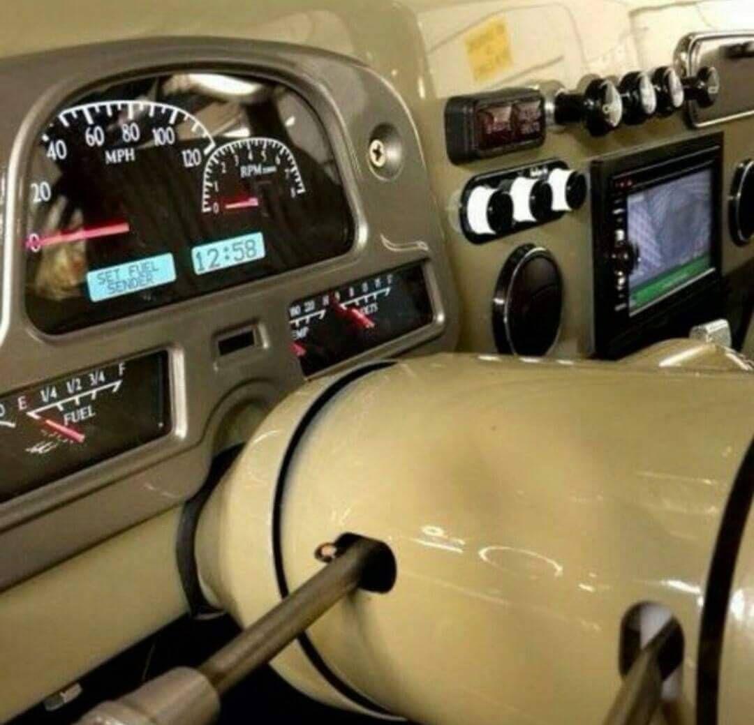 FJ40 upgraded dash
