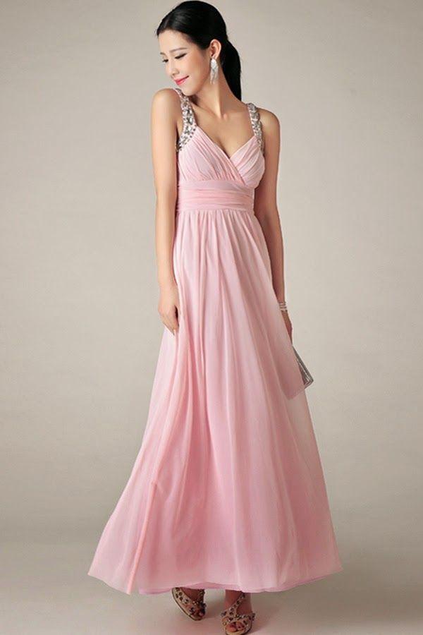33adab74e Sencillos y baratos vestidos largos de damas