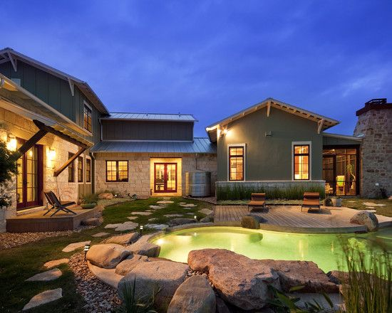 Texas Hill Country Landscape With Pool Design Pictures