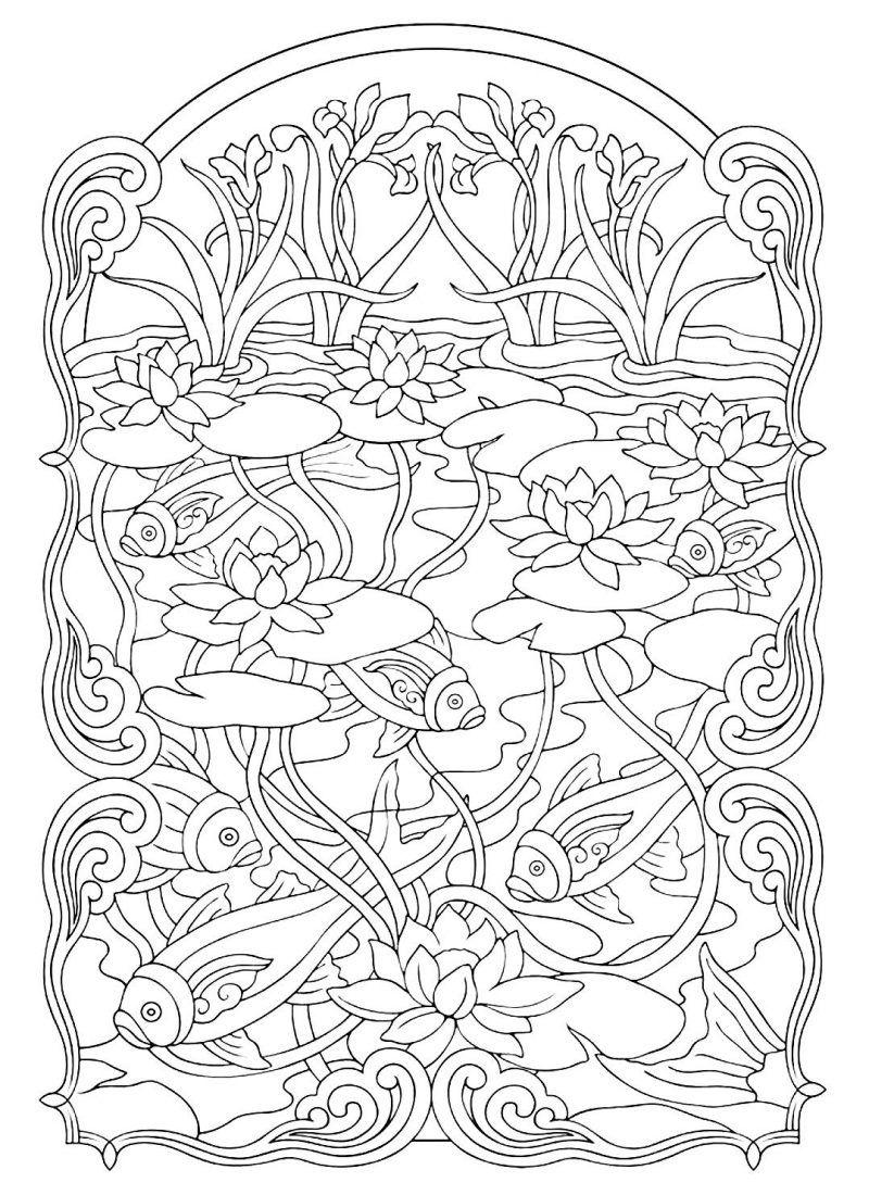 Disegni Da Colorare Art Therapy.Art Therapy 30 Disegni Da Stampare E Colorare Disegni Pagine Da Colorare Per Adulti Origami Geometrici