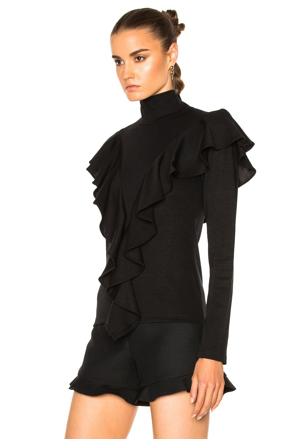 Image 2 of Rodebjer Jennifer Top in Black- just the shirt