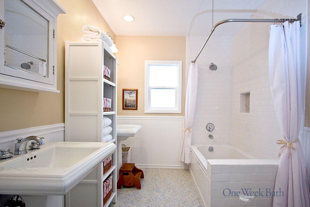 Vintage Design Style Bathrooms By One Week Bath Bathrooms Remodel Bathroom Remodel Designs Bathroom Design