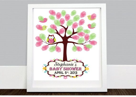 Digital owl guestbook thumbprint print yourself baby showers digital owl guestbook thumbprint print yourself baby showers guestbook jungle baby shower keepsake solutioingenieria Choice Image