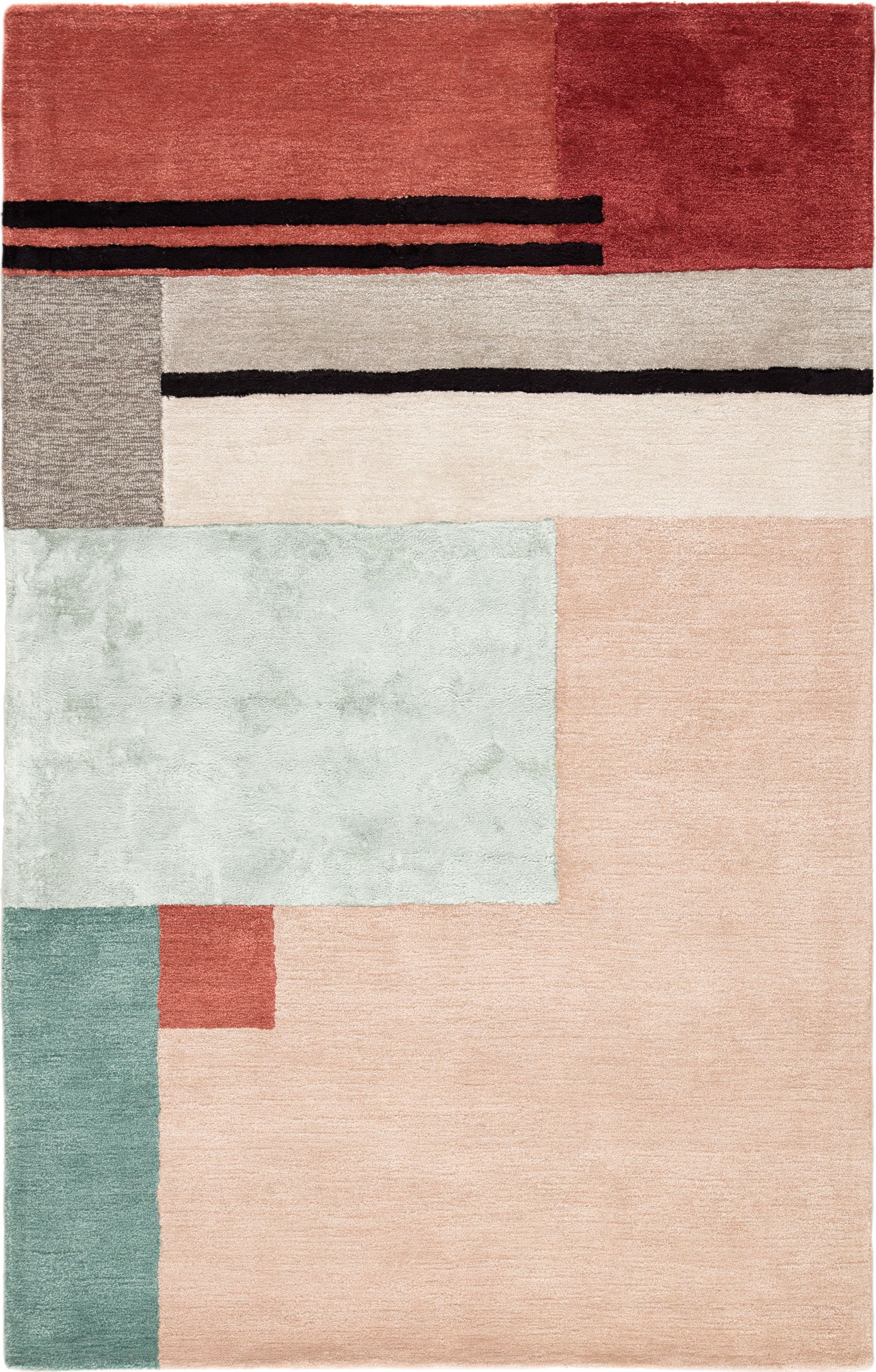 Segment Color Pink Red Size 7 10 X 10 10 Rugs On Carpet Area Throw Rugs Hand Tufted Rugs