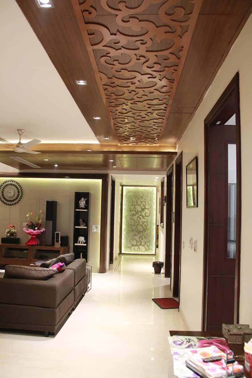 False Ceiling Designs For Living Room In Flats: Modern Corridor/hallway Design Ideas Inspiration