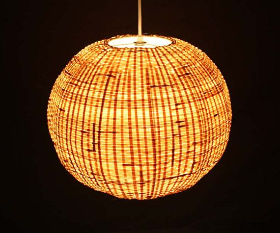 Bamboo Sphere Pendant Lights Bamboo Lamps Rustic Lighting Decor
