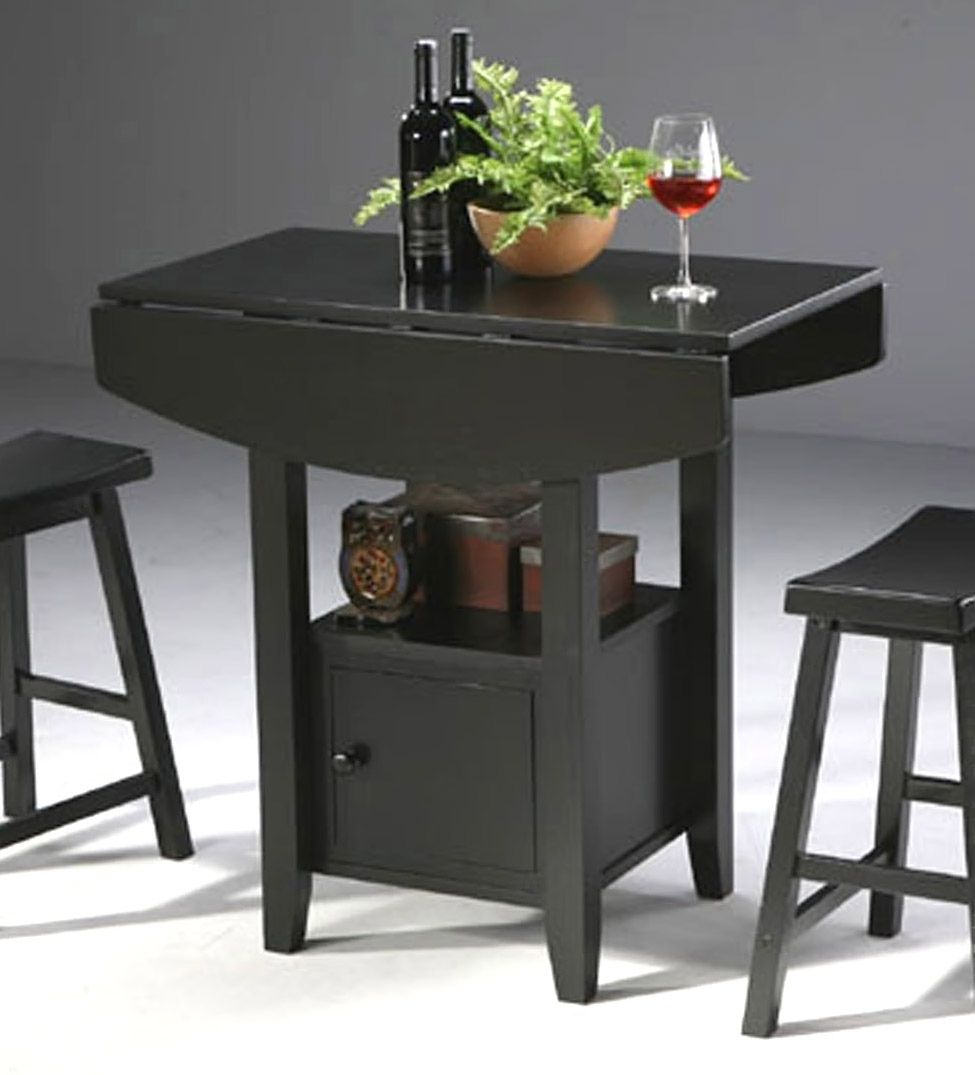 Countertop Height Table With Drop Leaf Solid Counter Top Table W